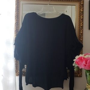 Tops - Long sleeve blouse low-high
